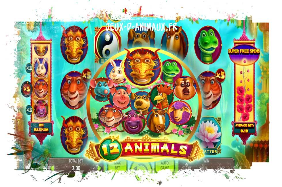 12 animals slot : le Zodiaque chinois au casino avec Boongo